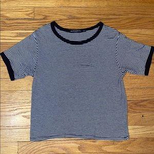 Black & White Striped Top